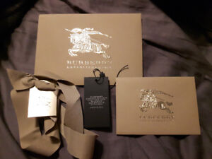 Authentic Burberry LLL Black Leather Tote