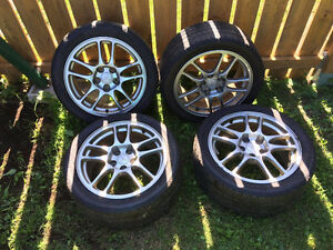 Set of Evo 9 Enkei Rims