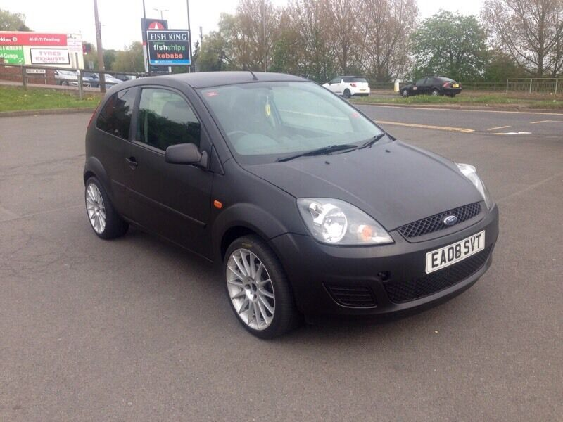 ford fiesta zetec 2008 matt black modified alloys cd st replica only 60k from new must look. Black Bedroom Furniture Sets. Home Design Ideas