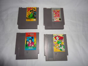 4 NES NINTENDO GAMES:THE THREE STOOGES + 3 Games