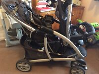 GREAT DOUBLE BUGGY GOOD CONDITION NEEDS SOLD ASAP £70 ONO