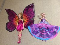 Barbie mariposa and the fairy princess dolls with DVD