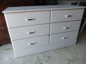 white 6 drawer small dresser in good cond the dresser is clean