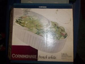BOL PLAT CORNING FRENCH WHITE CORNINGWARE COCOTTE VAISSELLE