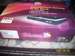 ShavaTV Box, like new&installed120GB Hard Drive for recording.
