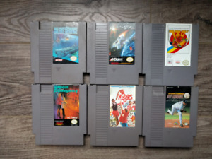 18 Nintendo NES games, tested and working