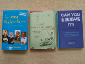 Three Humourous Books for the older generation