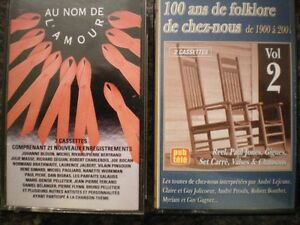 Cassettes musique: «100 ans de folklore» et «Au nom de  l'amour»