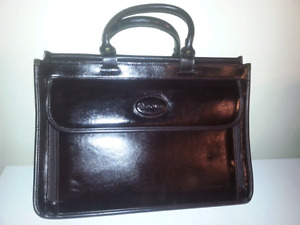 Leather briefcase/laptop bag