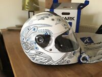 Shark S600 Folies Motorcycle Helmet White (S)
