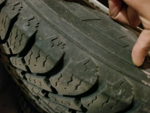 Winter tires and rims (5×115) like new