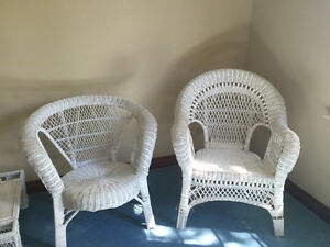 Multi Items - White Wicker Furniture - Shabby Chic