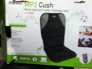 MP3 cushion massager with speakers