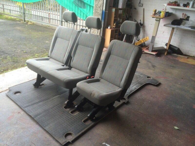 Vw T5 Removable Folding Rear Seats Double Single Fitting