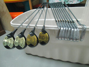 VINTAGE WALTER HAGEN REFURBISHED HAIG ULTRA Drivers and Irons