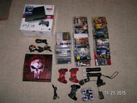 160gb sony ps3 with 30 games and move system