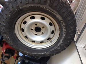 17 inch Goodyear Duratrac winter tires and rims
