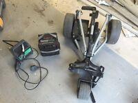 Power Caddy electric golf trolley.