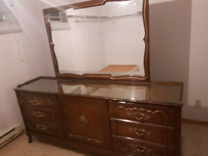 Vintage Carlton dresser and two matching bedside tables