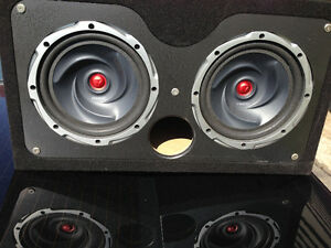 Dual Kenwood SubWoofers in Box