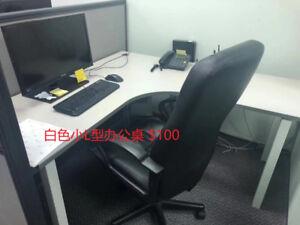 White L- Shape medium size office desk on sale!