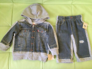 Brand new, with tags Levi's 2 piece outfit. Size 3-6 months Kitchener / Waterloo Kitchener Area image 1