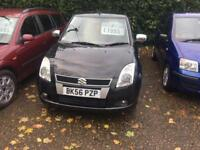 2006 Suzuki Swift 1.5 ( 101bhp ) GLX 3 door hatchback in black 81.000 miles