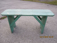 Antique 70 year old painted PINE BENCH