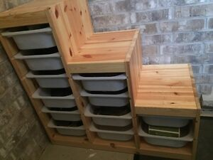 Trofast Shoe Storage Unit (made out of pine)