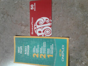 BP'S Gift Card & Cineplex combo movie