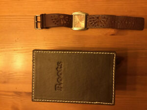 Authentic Roots watch, genuine leather band.