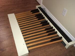 Pédalier d'orgue 27 clés en bois converti MIDI-USB