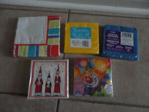 Lot of 5 packs of assorted paper napkins Brand new London Ontario image 2