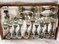 Architectural Salvage Antique glass door knobs! These door knobs