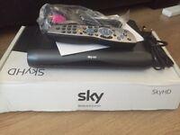 Sky HD box & hub