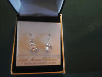 Fifth Avenue Collection Sterling Silver Hook Earrings. Brand new