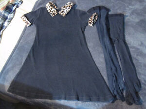size 6 dress and jacket and tights set