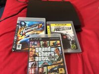 PlayStation 3 slim 120gb with 3 games and controller