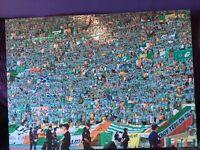 Celtic fc fans in Seville for uefa cup final canvas,,