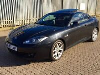 Hyundai coupe facelift auto black red leather