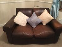 Suite of leather furniture