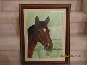 Oil Painting - Horse Head