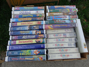 Walt Disney VHS Tapes and Asst. other Children's Tapes