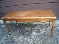 Beautiful SOLID WOOD Walnut French Provincial Coffee Table