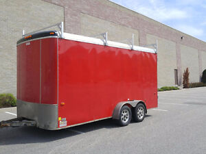 2012 7x16 Tandem Enclosed Trailer by Haulin with Extra Height
