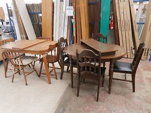 VARIOUS TABLE & CHAIR SETS
