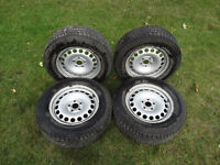 Set of 4 Winter Tires on Steel Rims