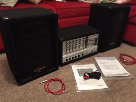 Speakers + Amplifier mixer Combo Phonic PowerPod 620 + Phonic SE710 II speakers