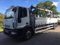 2007 07 Iveco Eurocargo 1805E25 21ft alloy dropside remote Atlas 120.2 crane