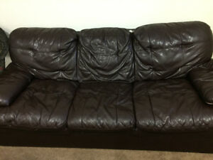 Faux Leather Sofa For Sale